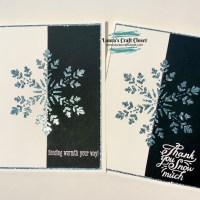 Black, White, and Glitter Snowflake Card