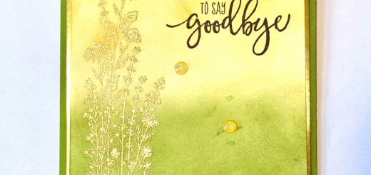 Simple Sympathy Card with gold embossing and ink blending