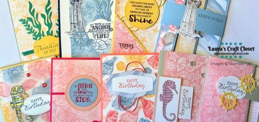 sand and sea DSP card stack created with the Stampin' Up designer series papers