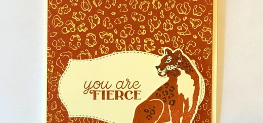 Stamp with an embossing folder wild cats fierce card featured cheetah