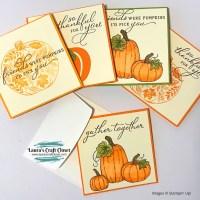Pretty Pumpkin Thanks Notecards Set