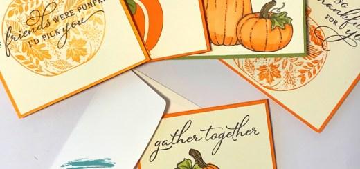 Pretty pumpkins thanks notecards