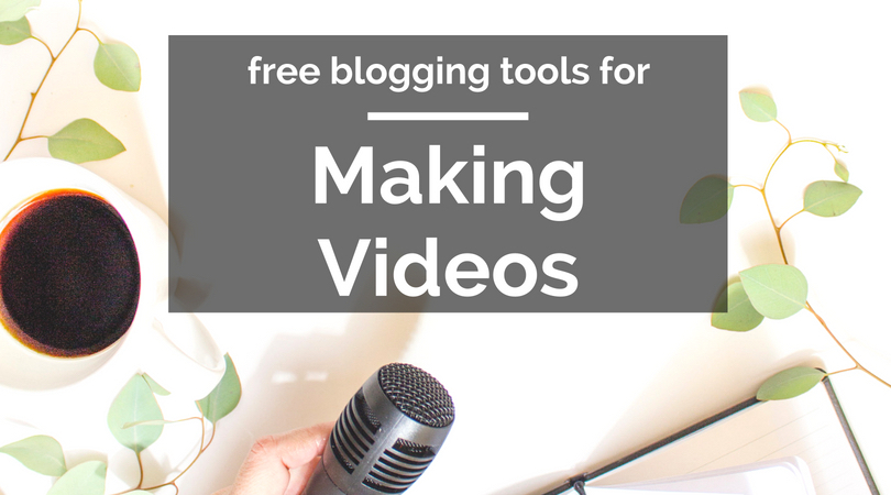 free blogging tools for making videos text overlaying image of microphone on white background