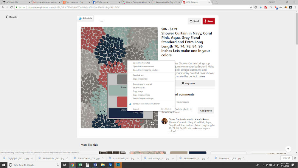 How to find color codes from an image online.