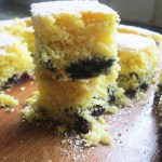 Gluten Free Blueberry and Orange Madeira Squares