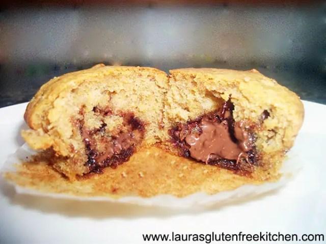 Nutella Stuffed Banana Bread Muffins