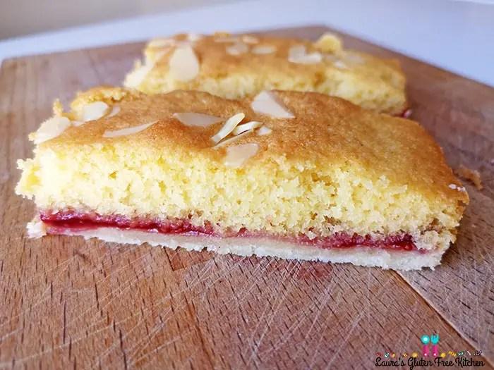 Gluten Free Bakewell Slices