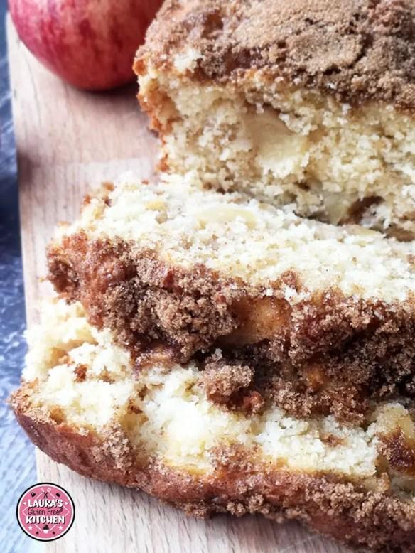 Gluten Free Cinnamon Sugar Apple Bread