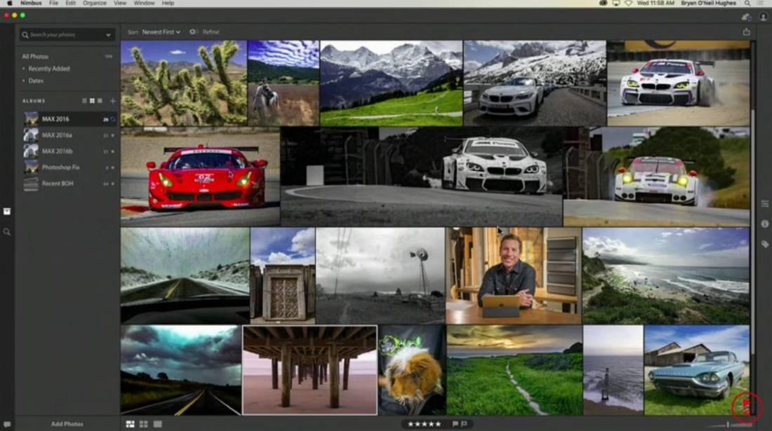 Adobe Nimbus Library View