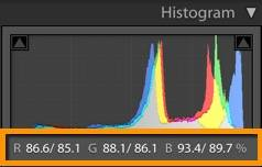 Lightroom Reference View Color Readouts