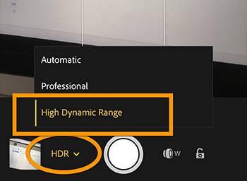 Lightroom Mobile HDR Setting