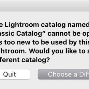 Lightroom Classic: Catalog Too New to Be Used by This Version of Lightroom