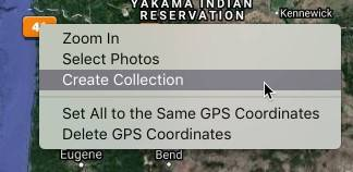 Create Collection from Map Pin in Lightroom Classic