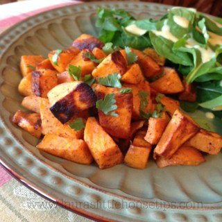 Ginger, Chili, Lime Roasted Sweet Potatoes Recipe