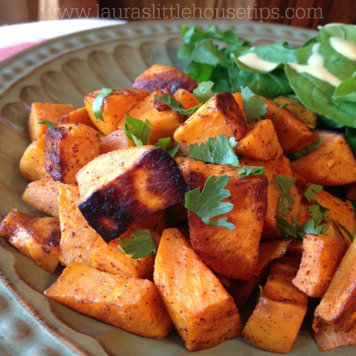 Ginger, Chili, Lime Roasted Sweet Potato Recipe