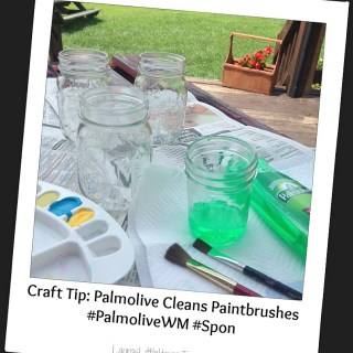 Craft Tip: Palmolive Cleans Paintbrushes #PalmoliveWM #Spon