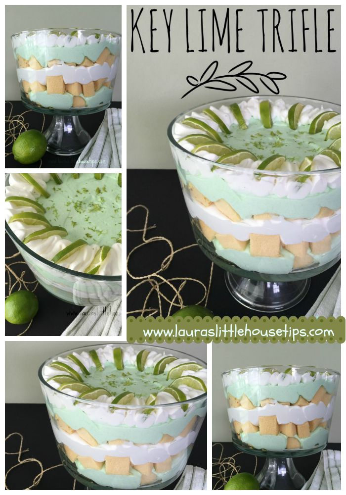 15 Minute Key Lime Trifle www.lauraslittlehousetips.com