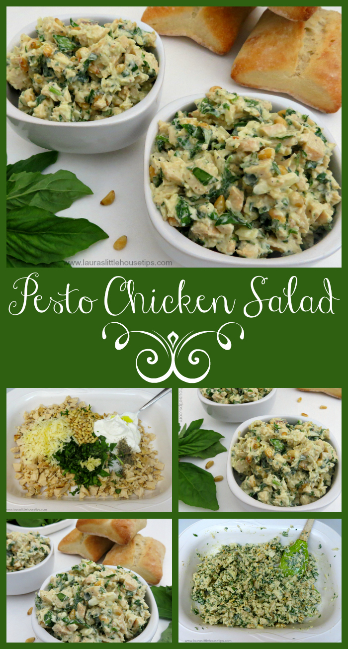 Pesto Chicken Salad www.lauraslittlehousetips.com
