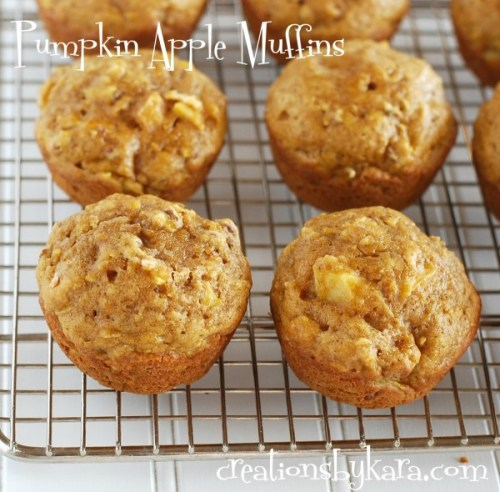 Pumpkin-Muffins-with-Apples-