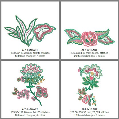 Applique Elegance 6x10 Design Details, Page 1