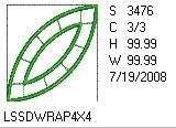 Double Wedding Ring Applique 4x4 Design Details