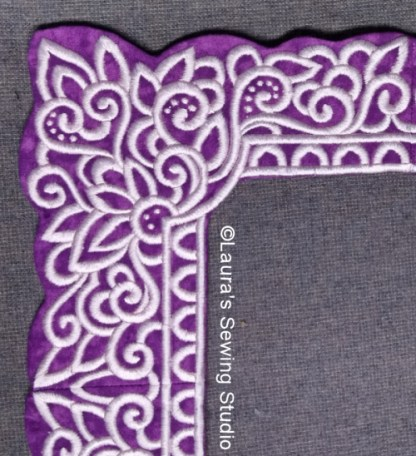 Lacy Hearts Frames in Purple & Pink