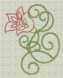 Filigree Flowers No. 9A