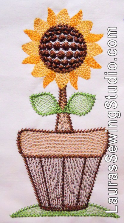 Sunflower Harvest Flower Pot