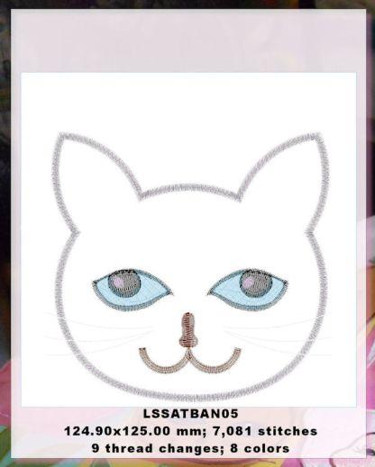 Baby Animals Applique Kitten Design Details