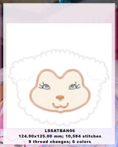 Baby Animals Applique Lamb Design Details