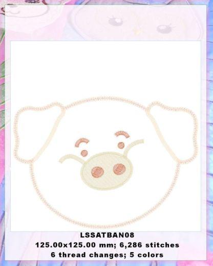 Baby Animals Applique Piglet Design Details