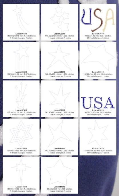 Chenille Stars 6x10 Design Details