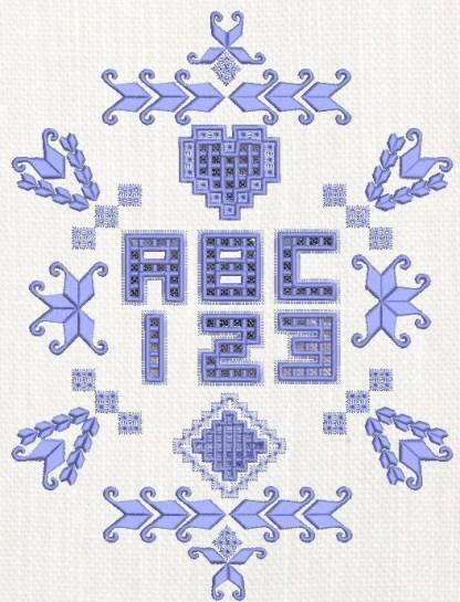 Hardanger Alphabet Sampler