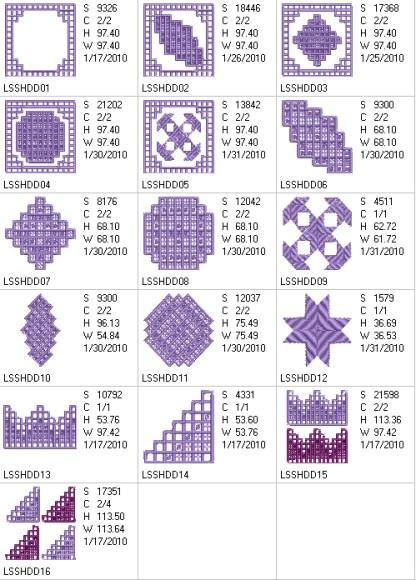 Hardanger Dimensions Design Details