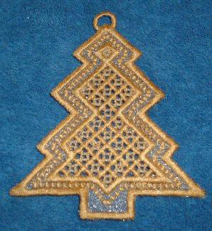 Hardanger Ornaments - Tree