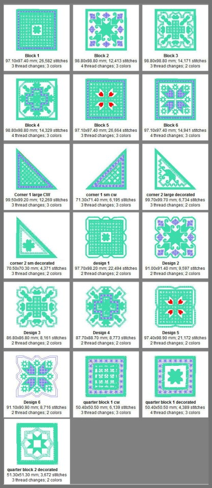 Hardanger Squared Design Details
