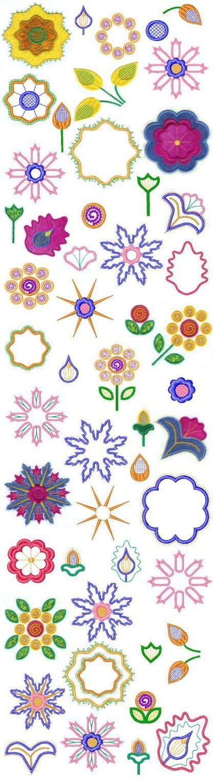Fantasy Applique Design Collage