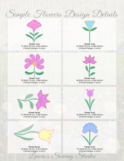 Simple Flowers Design Details