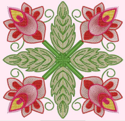 Spring Garden No. 6, in 4-by pattern