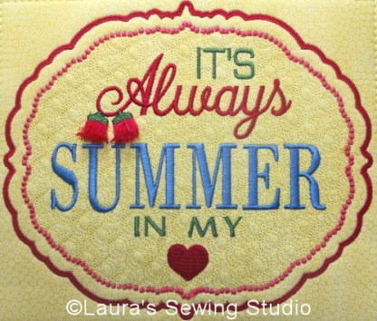 Summer In My Heart Banner Project