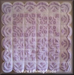 Laura's Sewing Studio Trapunto Flowers