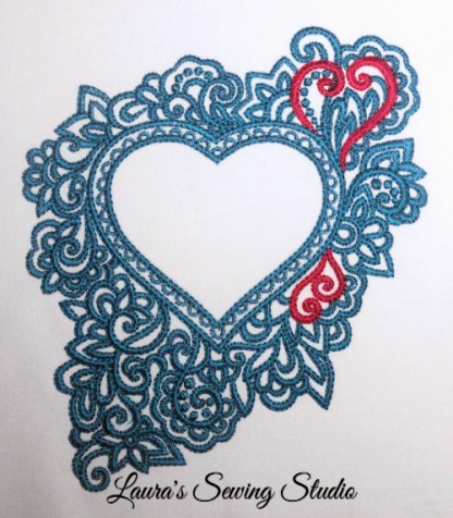 Glorious Hearts in Teal & Red