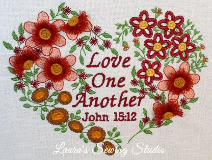 Love One Another Project - Fringe Machine Embroidery