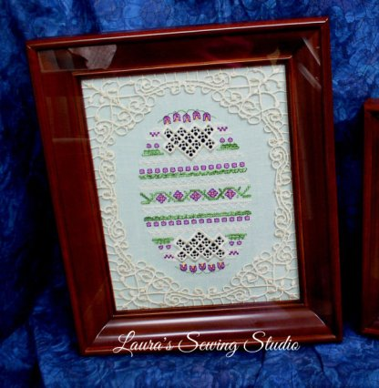 Hardanger Eggs & Beautiful Frames Fusion, Take 3