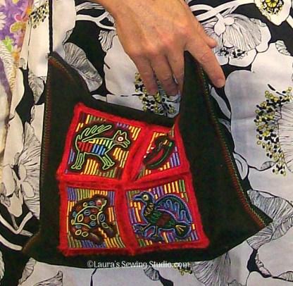 My simple Molas Nouveau Sampler purse
