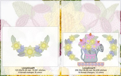 Spring Bouquets Design Detail Page 3