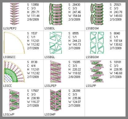 New York Beauty Hoop N Quilt 6x10 Design Details