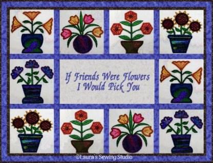 Pots O' Flower Sampler Quilt