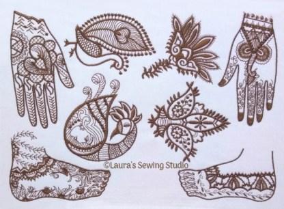 Mehndi Body Art Sampler