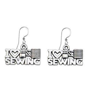 I Love Sewing Earrings